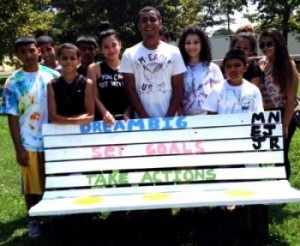 Park bench by Von Nieda  Student Leaders