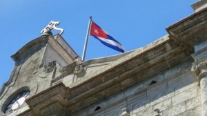 Cuban flag  downtown Havana photo by Jenifer Joy Madden