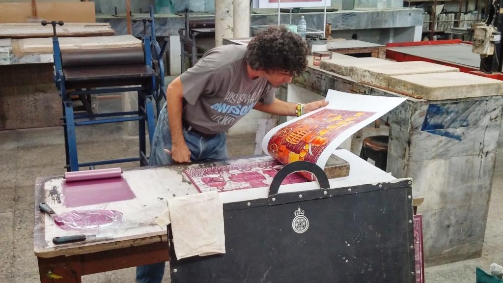 Cuban printmaker by Jenifer Joy Madden