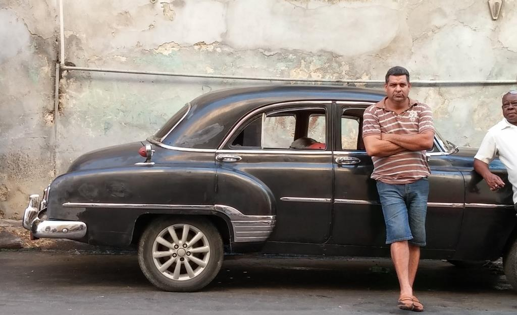 Cuban taxi driver photo by Jenifer Joy Madden