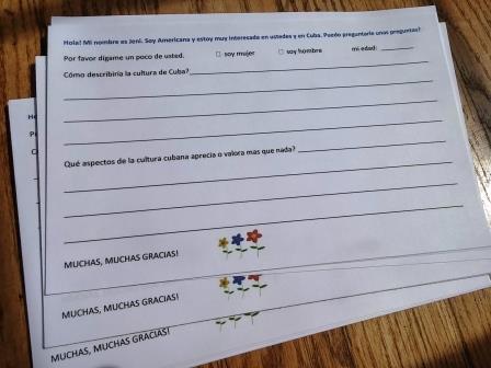 Spanish questionnaire reverse compress photo by Jenifer Joy Madden