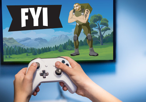 Parents FYI Fortnite image of Game Play Child Hands on Controller