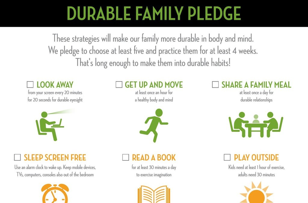 Excerpt of the Durable Family Pledge