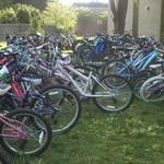 Filled bike racks at Wolftrap Elementary in Vienna, Virginia