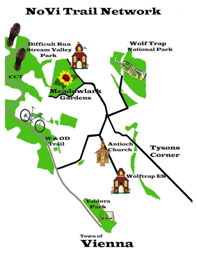 NoVi Trail Network Graphical Destinations Map