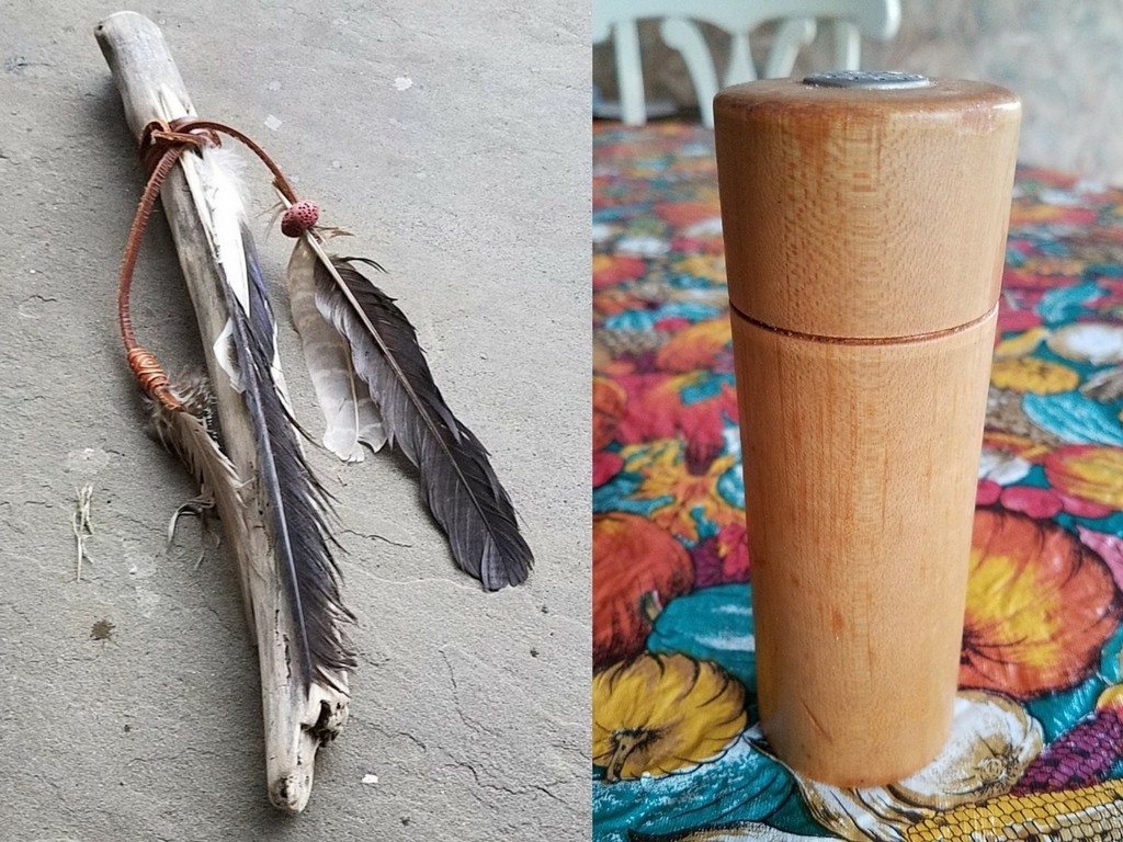 Talking stick and Salt Shaker