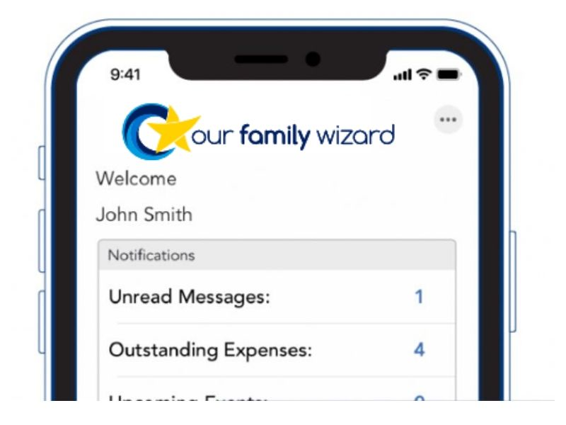 Screen of the app Our Family Wizard