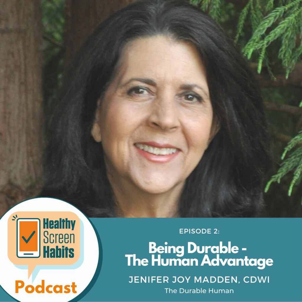 Health Screen Habits Podcast photo Jenifer Joy Madden